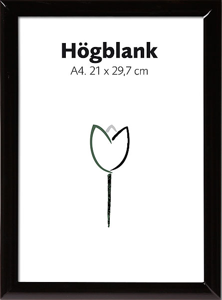 Högblank Svart 18x24 cm