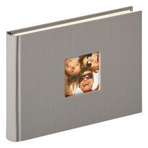 Fun Design Grå - 22x16 cm (40 Vita sidor / 20 blad)