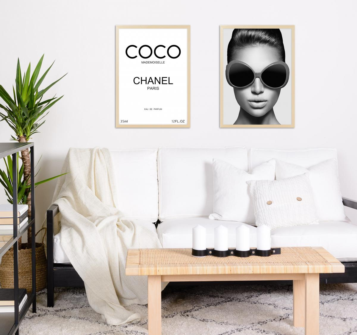 Coco Chanel Paris Black - 50x70 cm