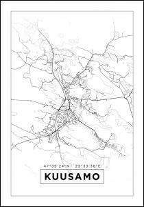 Map - Kuusamo - White