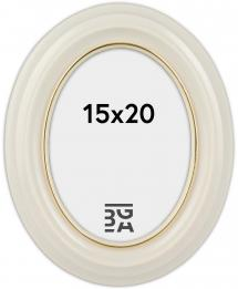 Eiri Mozart Oval Vit 15x20 cm