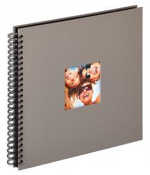 Fun Spiralalbum Grå - 30x30 cm (50 Svarta sidor / 25 blad)