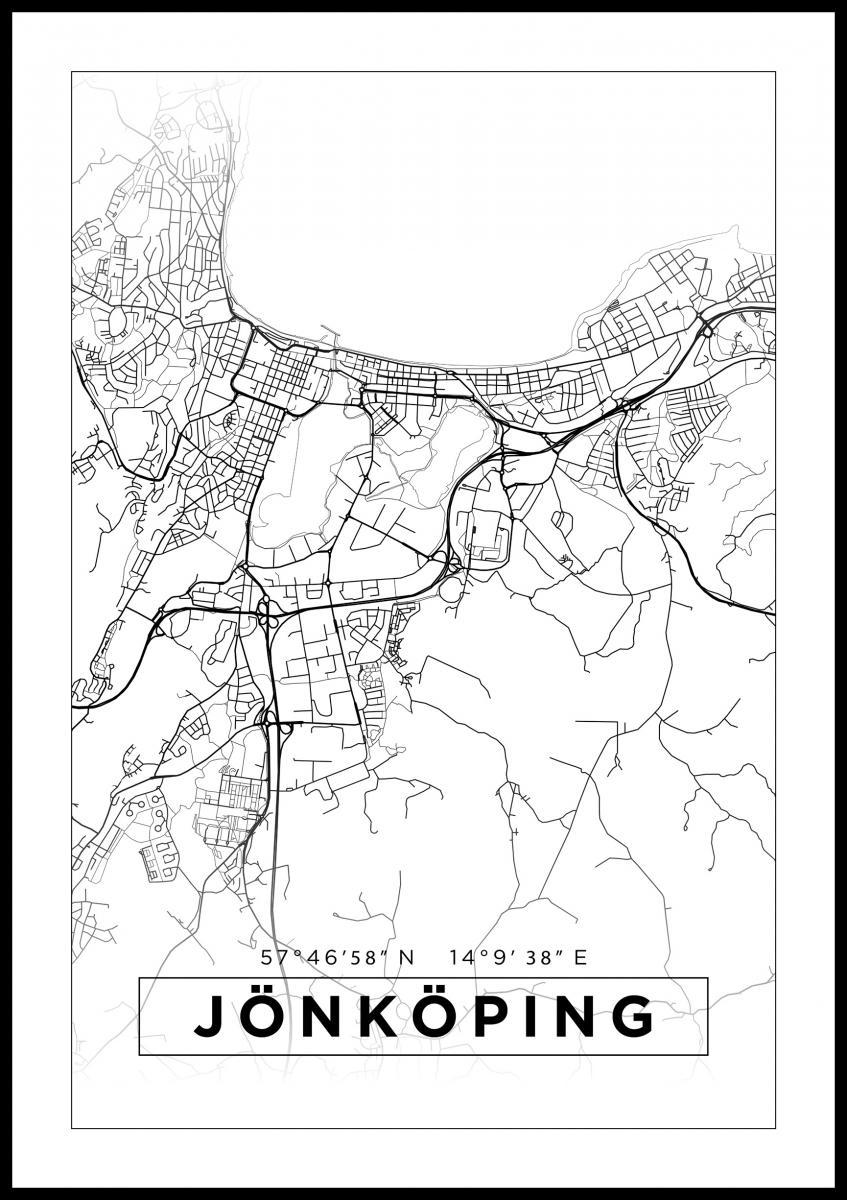 karta jönköping Karta   Jönköping   Vit   BGA Fotobutik karta jönköping