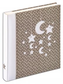 Stars & Moon Album - 28x30,5 cm (50 Vita sidor / 25 blad)