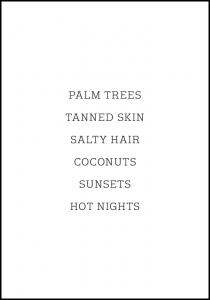 Palm trees - Tanned skin - Salty Hair