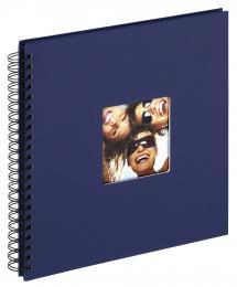 Fun Spiralalbum Blå - 30x30 cm (50 Svarta sidor / 25 blad)