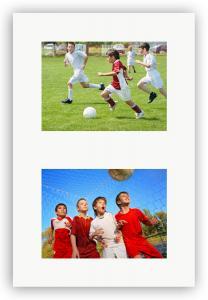 Passepartout Vit 40x60 cm - Collage 2 Bilder (19x29 cm)