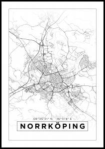 Karta - Norrköping - Vit
