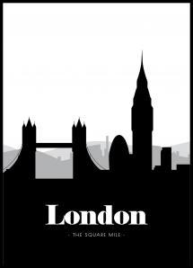 London Skyline - Poster - 21x29,7 cm (A4)