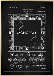 Patentritning - Monopol I - Svart