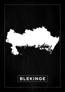 Map - Blekinge - Black