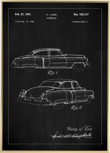 Patentritning - Cadillac I - Svart