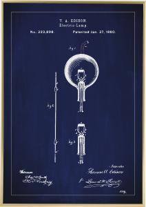 Patentritning - Glödlampa B - Blå