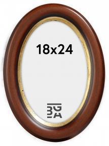 Molly Oval Brun 18x24 cm