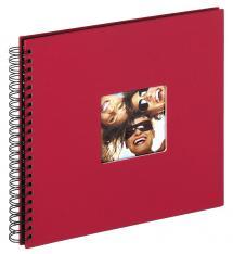 Fun Spiralalbum Röd - 30x30 cm (50 Svarta sidor / 25 blad)