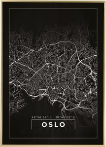 Karta - Oslo - Svart