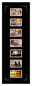 Passepartout Svart 30x90 cm - Collage 7 Bilder (9x14 cm)