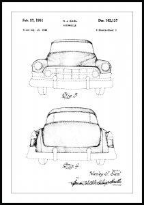 Patentritning - Cadillac II
