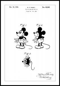 Patentritning - Disney - Musse Pigg