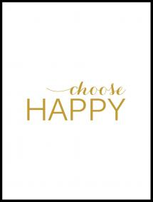 Choose happy - Guld