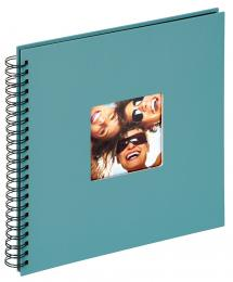 Fun Spiralalbum Turkos - 30x30 cm (50 Svarta sidor / 25 blad)