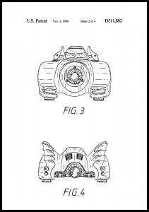 Patentritning - Batman - Batmobile 1990 II