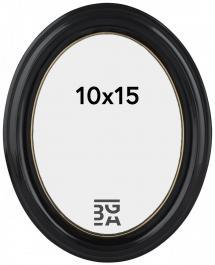 Eiri Mozart Oval Svart 10x15 cm