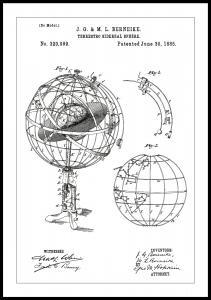 Patentritning - Astronomisk modell - Vit