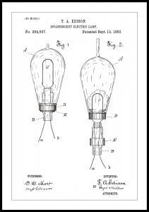 Patentritning - Glödlampa A - Vit
