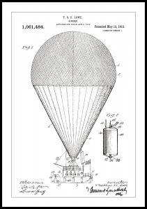 Patentritning - Luftskepp - Vit