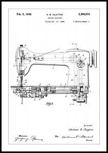 Patentritning - Symaskin I