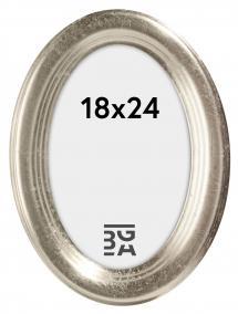 Molly Oval Silver 18x24 cm