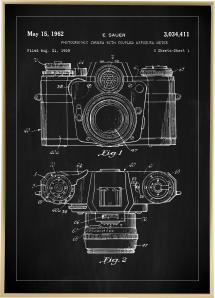 Patentritning - Kamera I - Svart