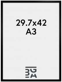 Visby Plexiglas Svart 29,7x42 cm (A3)