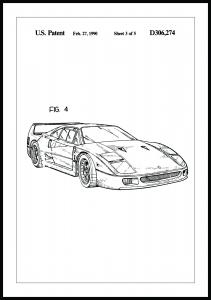 Patentritning - Ferrari F40 II