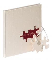 Puzzle Gästbok - 23x25 cm (144 Vita sidor / 72 blad)