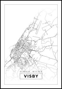 Map - Visby - White