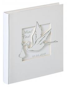 Cicogna Babyalbum Vit - 28x30,5 cm (50 Vita sidor / 25 blad)