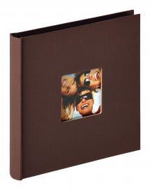 Fun Album Mörkbrun - 18x18 cm (30 Svarta sidor / 15 blad)