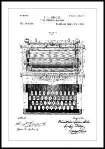 Patentritning - Skrivmaskin