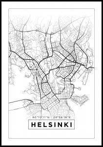 Karta - Helsinki - Vit