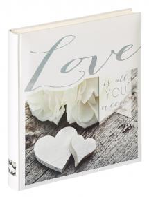 Love is all you need - Fotoalbum - 28x30,5 cm (50 Vita sidor / 25 blad)