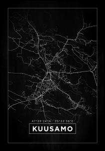 Map - Kuusamo - Black