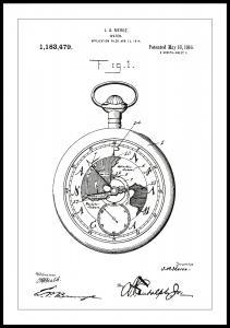 Patentritning - Fickur - Vit