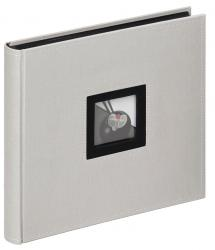 Black & White Album Grå - 26x25 cm (50 Svarta sidor / 25 blad)