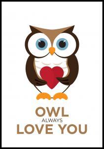 Owl Always Love you - Brun-Svart