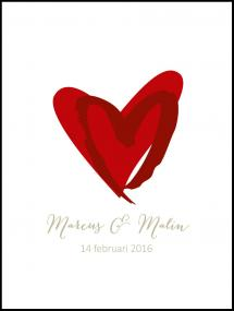 Love Weddingposter Red