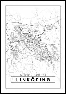 Karta - Linköping - Vit