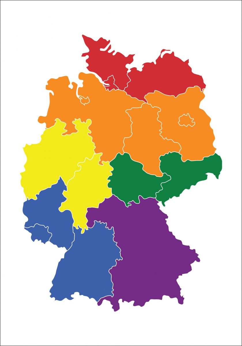 Karta - Tyskland - Pride - BGA Fotobutik