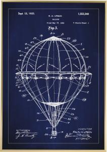 Patentritning - Luftballong - Blå